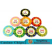 Texas Hold'em / Metal Poker Chips For Casino Gaming With Numbers Casino Chips