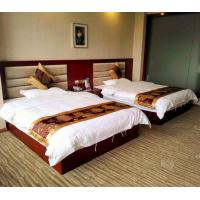 China Commercial Hotel Bedroom Furniture Sets With Double Bed And Table Chairs on sale