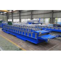 Buy cheap Roof Panel Double Layer Roll Forming Machine , Roof Tile Manufacturing Machine from wholesalers