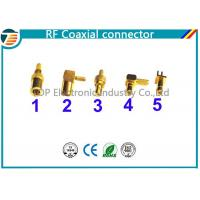 Buy cheap 50 Ohm , 75 Ohm Right Angle Straight SMB Coaxial Connector Low Reflection product