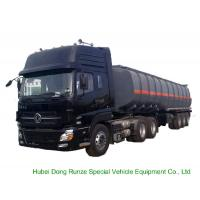 Buy cheap Tri Axles Caustic Soda Chemical Delivery Truck For 30 - 45MT Sodium Hydroxide from wholesalers