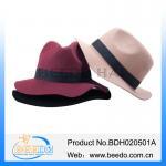 Buy cheap Wool felt custom fedora hat ribbons from wholesalers