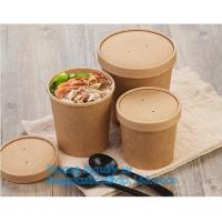 Buy cheap paper soup cups with paper lids hot soup kraft paper cup,disposable kraft paper soup cup with paper lid,bagease package from wholesalers