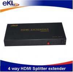 Buy cheap 1x4 hdmi splitter, 1 input 4 output hdmi splitter support 1080P 3D from wholesalers