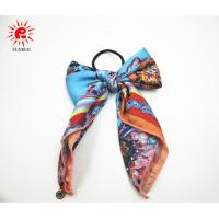 Buy cheap Beauty cute satin hair scrunchie hair extensions OEM and ODM product