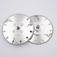 Buy cheap 125mm Electroplated Reinforced Diamond Cutting & Grinding Blade M14 Thread 5 inch Marble Granite with protection from wholesalers