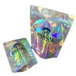 Buy cheap Custom printed logo hologram mylar zipper bag /printed holographic plastic bag from wholesalers