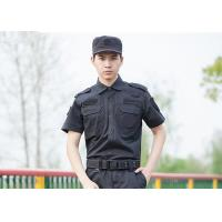 Buy cheap Polyester Cotton Cool Security Uniform Shirts Short Sleeve With Plain Dyed Technic from wholesalers