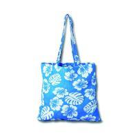 Buy cheap fashion full area printing blue 100% cotton tote shopping bag for women from wholesalers
