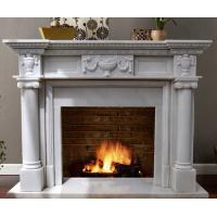 Buy cheap White Marble Fireplace Mantel from wholesalers