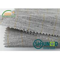 Buy cheap Heavyweight Garment Stretched Cotton Canvas Fabric / Horsehair Interlining For Suit product