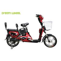 Buy cheap Red Lady & Child Power Assisted Bicycle 16 Inch Wheel Pedal Electric Bike from wholesalers