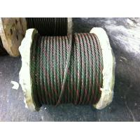 Buy cheap electro galvanized steel wire rope 6*19S+FC from wholesalers