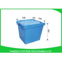 170L100% New Pp Heavy Duty Storage Bins , Plastic Box With Hinged Lid Space Saving