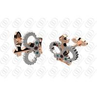 Buy cheap Crown Stainless Steel CuffLinks Multi-Color Crystals For Body Building Clubs Gift from wholesalers