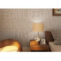Buy cheap 0.53*10M Modern Non - woven Wallpaper , Fashion LOVE English Letters Wallpaper from wholesalers