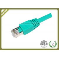 Buy cheap 4 Pair STP Cat6 Shielded Cable Green Color 550 Mhz Cat6 Patch Leads from wholesalers