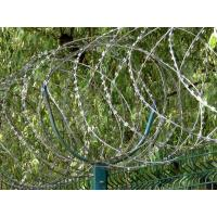 Buy cheap Anti Climbing Concertina Razor Barbed Wire Hot Dipped Galvanized Fence Wire BTO-22 from wholesalers