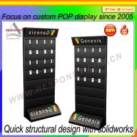Buy cheap Slatwall mobile phone accessory display Floor POS Accessories Slatwall Display Stand from wholesalers