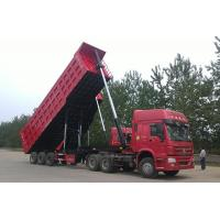Buy cheap Self - loading Coal / Grain Rear Hydraulic 40 CBM 50T 3 Axle side dump trailer from wholesalers