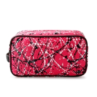 Buy cheap Professional Customized Multi-Functional Double Zipper Canvas Cosmetic Bag from wholesalers