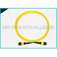 Buy cheap 12 Cores MPO to MPO Single Mode Fiber Optic Cable Corning SMF-28e Riser Rated from wholesalers