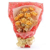 Buy cheap gold foil rose from wholesalers
