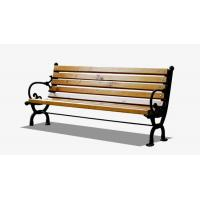 Buy cheap Customized Bamboo Park Bench Insect Prevention Cast Iron Frame Stylish Appearance from wholesalers