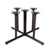 Buy cheap 2201 Metal Tube Table Legs Black Wrincle Powder Coating Cast Iron Table Base from wholesalers
