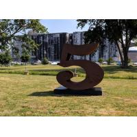 Buy cheap Number 5 Garden Decor Corten Steel Sculpture For Outdoor , Corrosion Stability from wholesalers