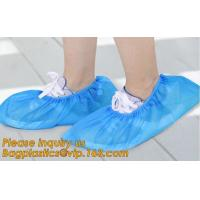 Buy cheap Disposable colorful antistatic PE CPE PP SMS Microporous shoe cover good quality low price waterproof shoe bagease pack from wholesalers
