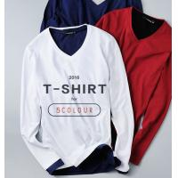 Buy cheap Men long sleeve casual shirts high quality T-shirt more color to choice from wholesalers
