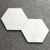 Buy cheap Backsplash Hexagon Shaped Ceramic Tiles 200x230 Coloured Hexagonal Tiles product