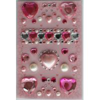 Buy cheap Custom Fancy Crystal Recollections Bling Stickers Nontoxic 80mm X 120mm from wholesalers