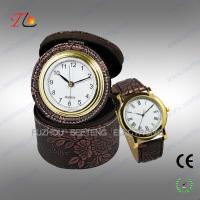 Buy cheap Elegant classic travel PU leather desk clock and watch gift set for promotion from wholesalers