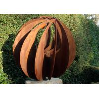 Corten Steel Hollow Outdoor Metal Sphere Sculpture Various Size Available