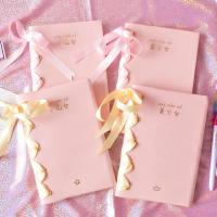 Buy cheap Ribbon Book Spine Blank Journal Notebook , Lay Flat Feature Wide Ruled Journal from wholesalers
