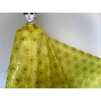 Buy cheap Embroidered Yellow Organza Lace Fabric For Womens Garment from wholesalers