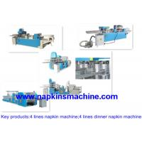 Buy cheap Embossed Two Line Paper Napkin Machine For Making Napkin Tissue Product from wholesalers