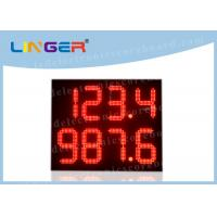 Buy cheap Easy Operation Multi Color LED Gas Price Signs Digital 12'' 300mm Digit Height from wholesalers