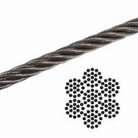 Buy cheap 1/8 7x19 Galvanized Aircraft Cable , Airplane Cable Breaking Strength 2000 lb from wholesalers