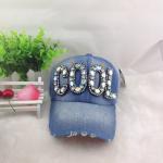 Buy cheap Wholesale Diamond Letter Baseball cap hip hop Adjustable cowboy caps Denim cap outdoor cap from wholesalers