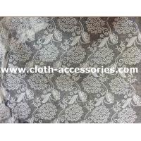 Buy cheap Flower Mesh Crochet Net Lace Fabric White Polymide Decoration For Wedding from wholesalers