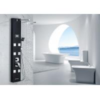 Buy cheap Black Painting Thermostatic Shower Panel ROVATE 5 Functions Water Diverter from wholesalers