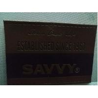 Buy cheap Dark Brown Leather Jeans Patch , Synthetic PU Leather Labels For Hats from wholesalers