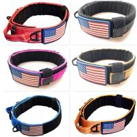 Buy cheap Metal Buckle Military Dog Collar Nylon Reflective K9 Quick Release Fit All Seasons from wholesalers