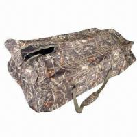 Buy cheap 600D polyester camouflage waterfowl layout blind, measures 130 x 80cm, open size of 216 x 94 x 46cm from wholesalers