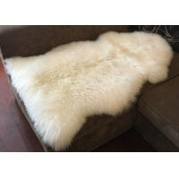Buy cheap Real Long Merino Wool Fur Bed Throws Blankets With Custom Color / Size from wholesalers