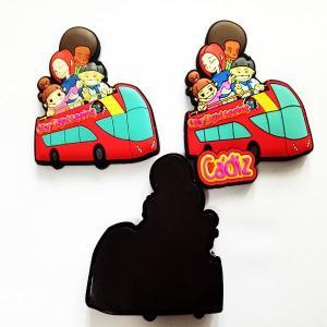 China Factory OEM City tourist plastic souvenirs PVC fridge magnet on sale