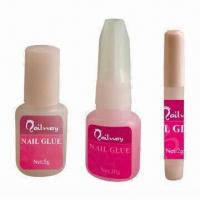 Buy cheap 2/5/10g Professional Nail Glue with Brush, Ideal for False Nail Tips/Art Tools from wholesalers